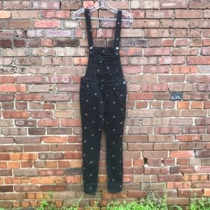 🆕Free People Embroidered Denim Overalls NWT